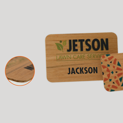 Full Color Wood Badges